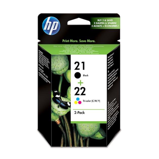 HP 21+22 Black/Tri-colour Multipack Cartridge