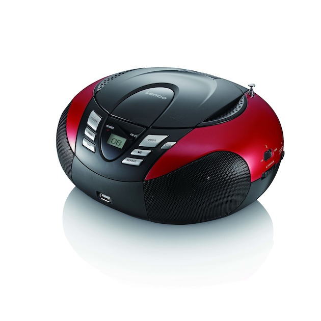 Lenco SCD-37 USB  rood