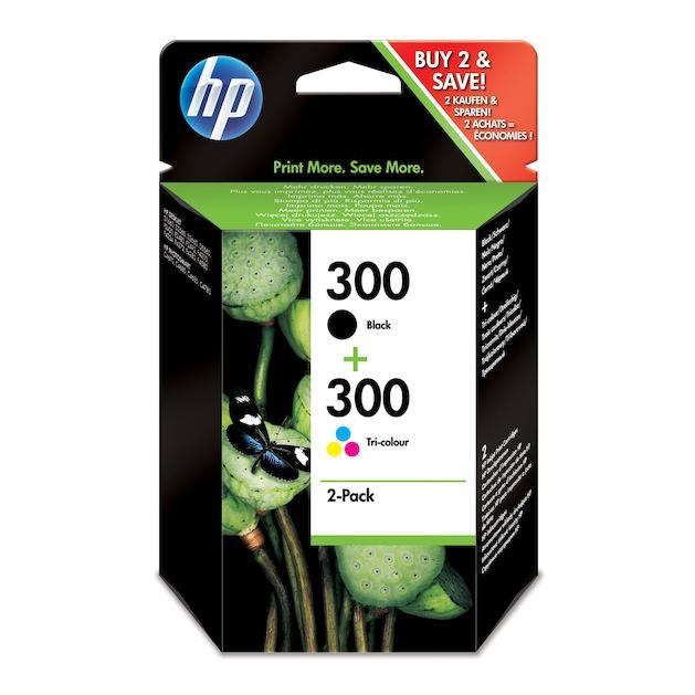 HP 300 2pack zwart