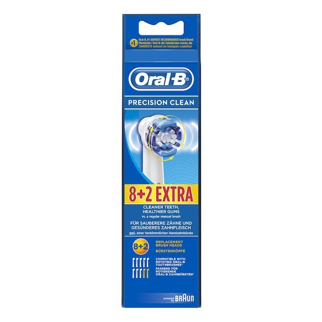 Oral B Opzetborstel Precision Clean 8+2