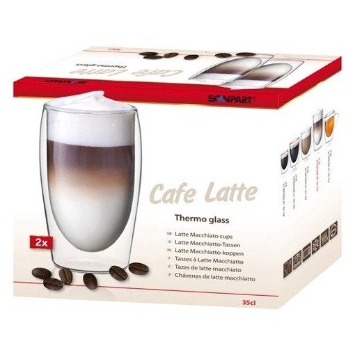 Scanpart cafe latte thermo glazen A2 35cl