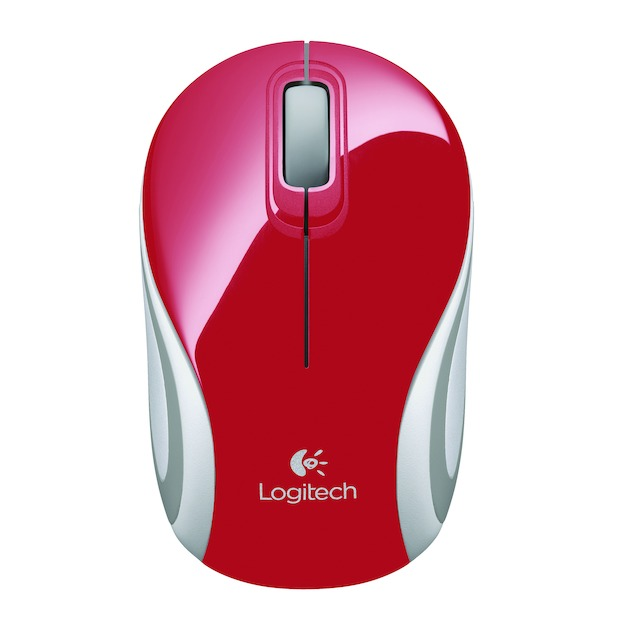 Logitech Wireless Mini Mouse M187 Rood