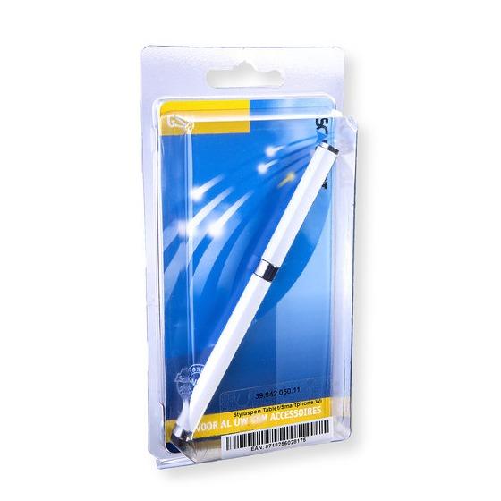 Scanpart styluspen touchscreen ballpoint wit