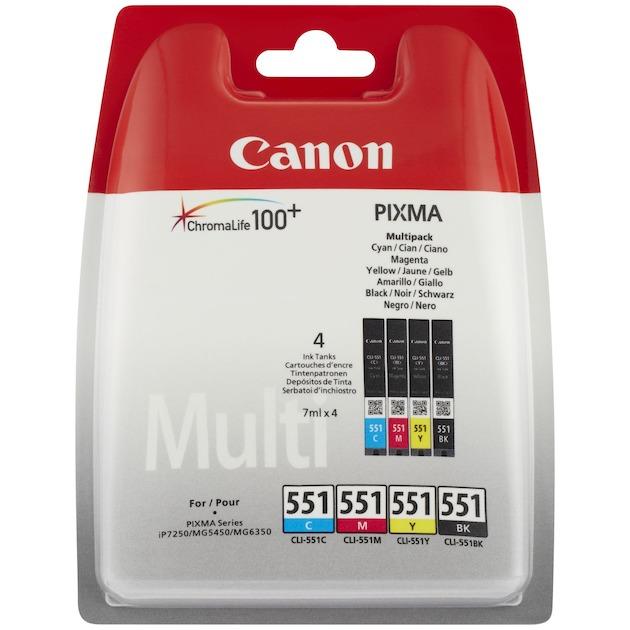 Canon CLI-551 multipack Zwart/multicolor