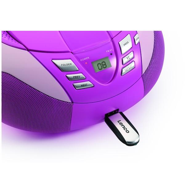 Lenco SCD-37 USB  roze