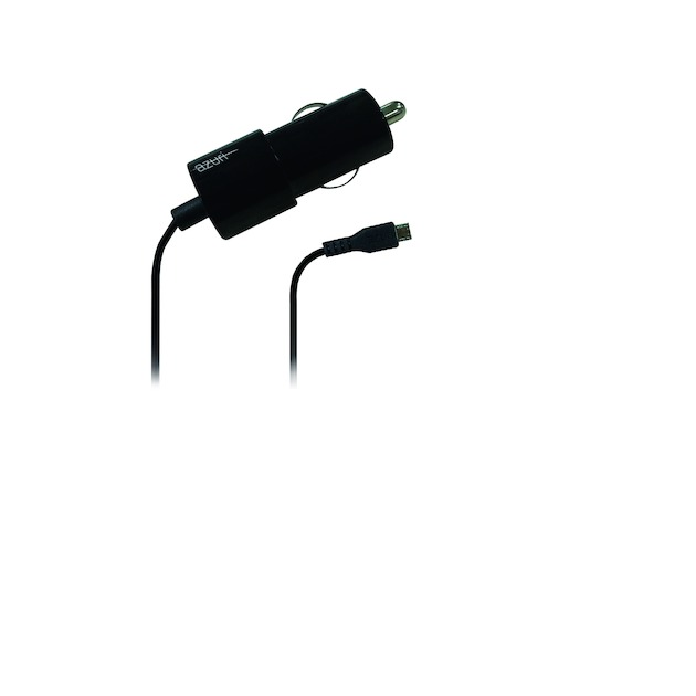 Azuri Autolader Micro USB zwart