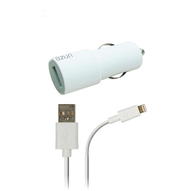 Azuri Autolader Apple Lightning connector wit