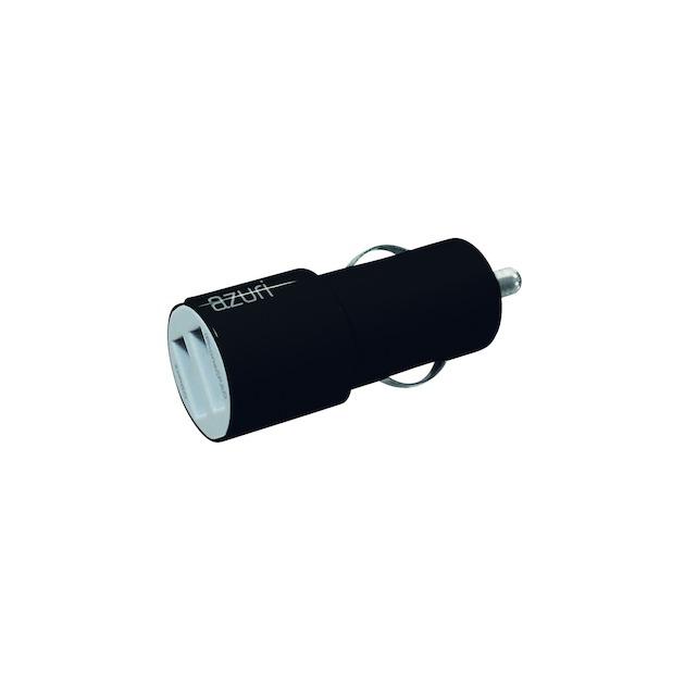 Azuri Autolader 12V 2 x USB adapter 3,4Amp zwart
