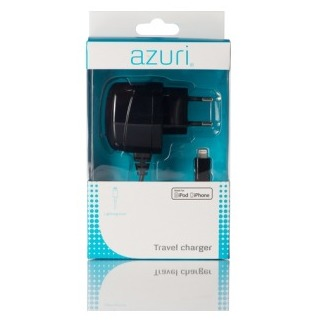 Azuri Thuislader Apple Lightning connector zwart