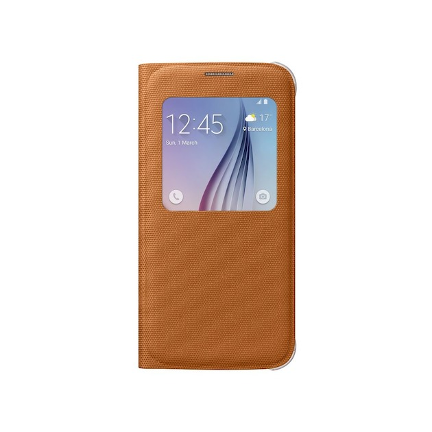 Samsung S-View Cover - voor Galaxy S6  oranje