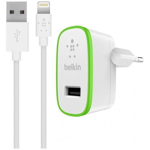 Belkin BOOST UP Thuislader + Lightning kabel wit