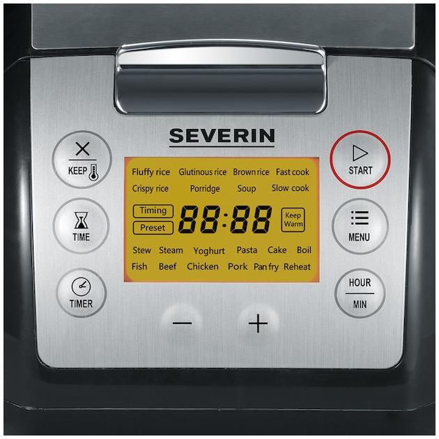 Severin MC2448 zwart/rvs