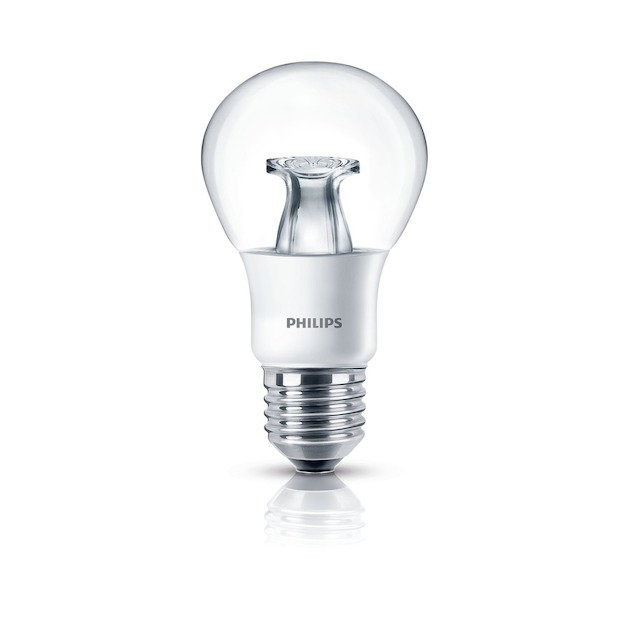 Philips LED lamp E27 6W 470Lm peer helder dimbaar