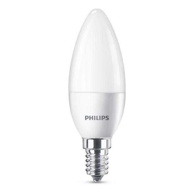 Philips LED lamp E4 4W 250Lm kaars mat 2 stuks