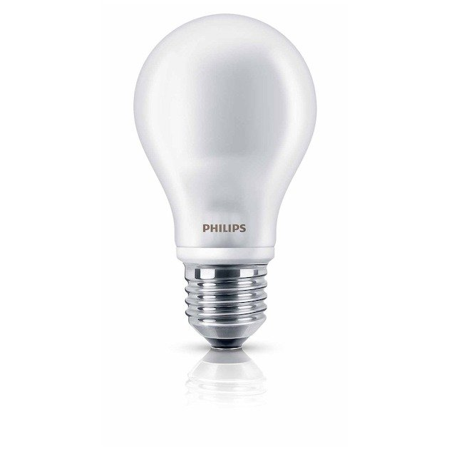 Philips LED lamp E27 6W 470Lm classic mat 2 stuks