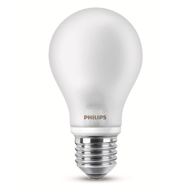 Philips LED lamp E27 7W 806Lm classic mat 2 stuks
