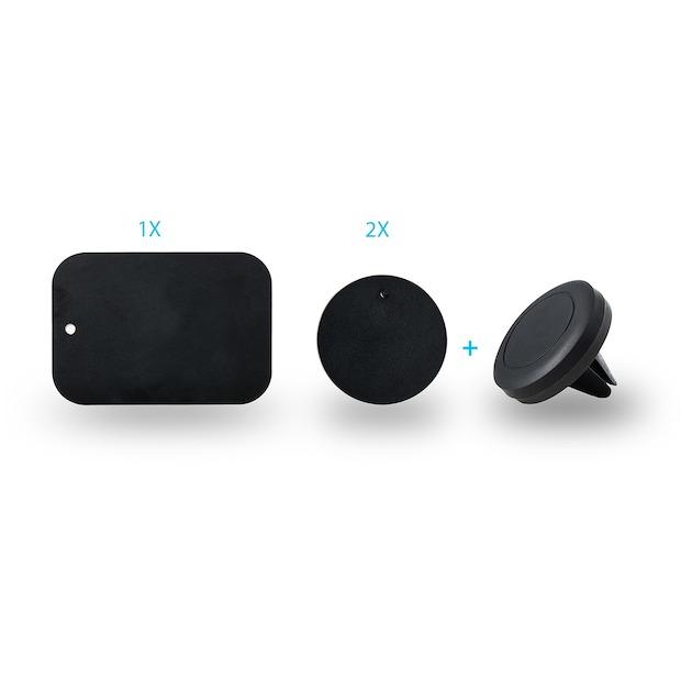 Azuri Universele Smartphone Autohouder voor  de luchtrooster zwart