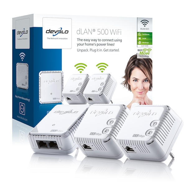 Devolo 500 WiFi Network Kit Powerline