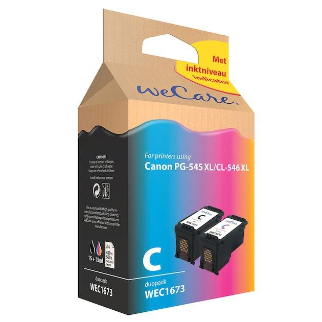 Wecare cartridge Canon duopack zwart + kleur