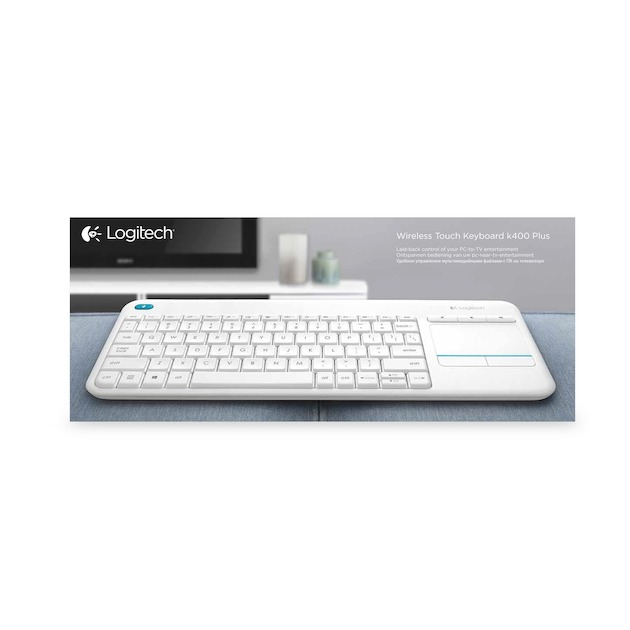 Logitech K400 Plus Wireless Touch (Qwerty) wit