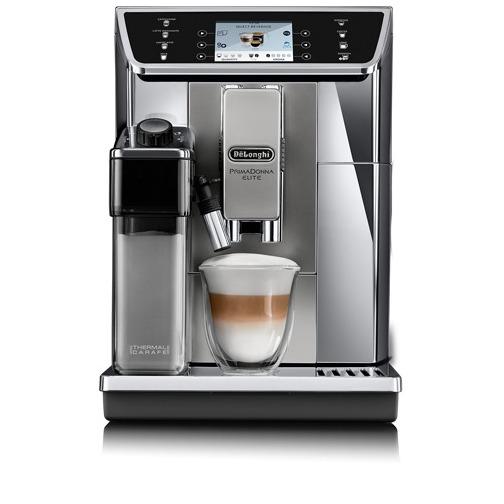 Koffieapparaat met ingebouwd melksysteem