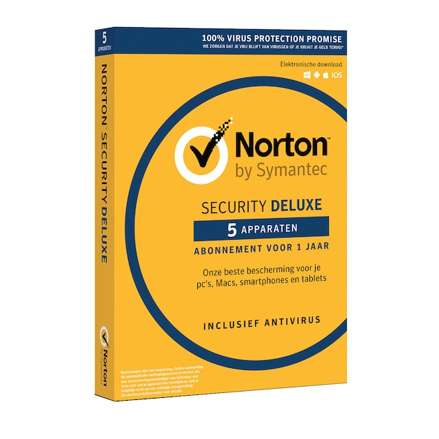 Symantec Norton Security Deluxe 2019 | 5 apparaten | 1 jaar | antivirus inbegrepen