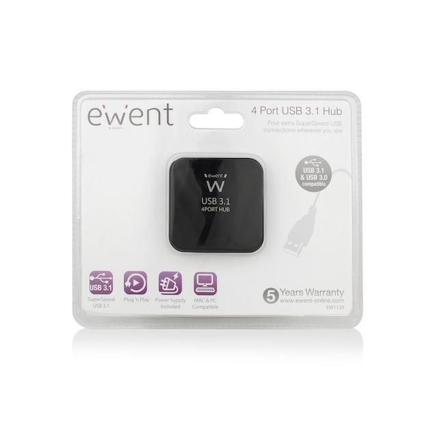 Ewent Hub / 4 Poorts USB Hub / USB 3.1 Gen1