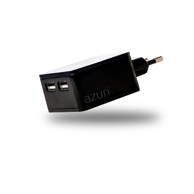 Azuri Thuislader 2 x USB 4.8Amp zwart