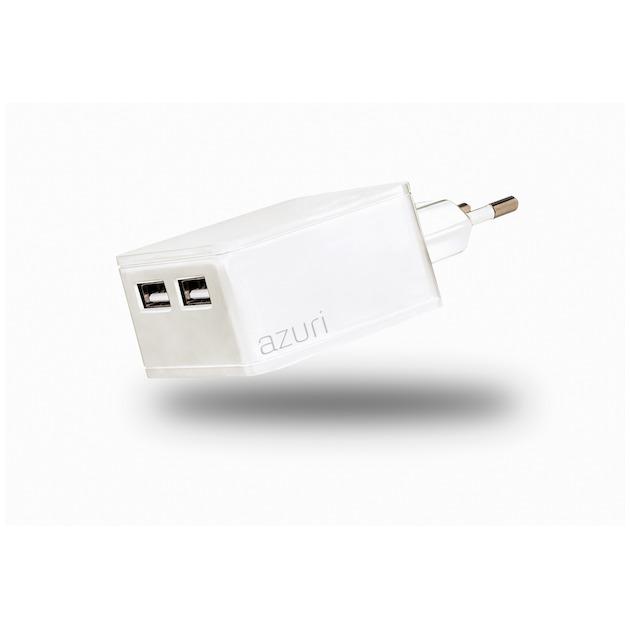 Azuri Thuislader 2 x USB 4.8Amp wit