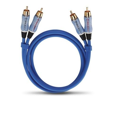 Oehlbach Audio-cinchkabel Stereo 0,50 m blauw