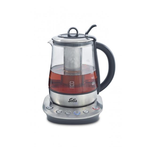 Solis 5514 Tea Kettle Classic Waterkoker - Duran glas met RVS transparant