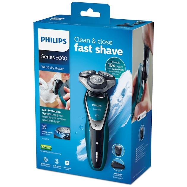 Philips S5650/41 zwart/blauw