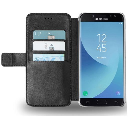 Azuri Wallet Case met transparant backcover voor Samsung J5 2017 zwart