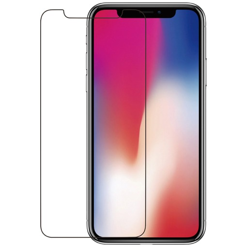Azuri Tempered Glass Screen Protector voor Apple iPhone X zwart