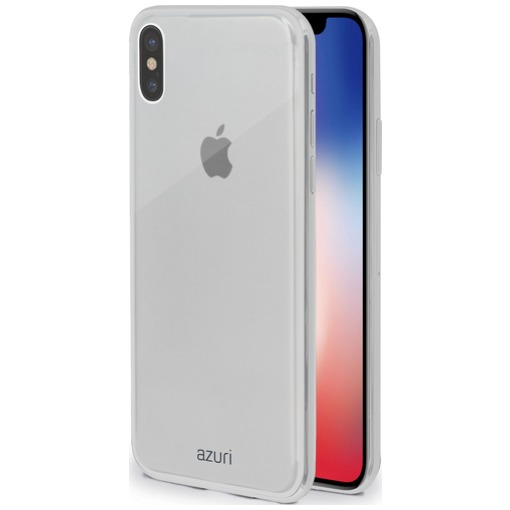 Azuri Flexibele TPU Back Cover voor Apple iPhone X transparant