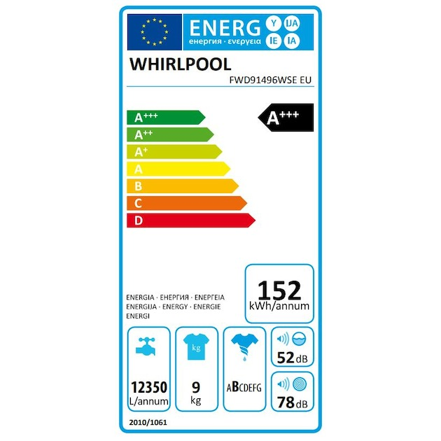 Whirlpool FWD91496WSE EU