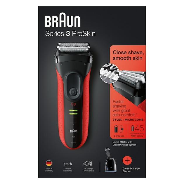 Braun Series 3 ProSkin 3050CC rood