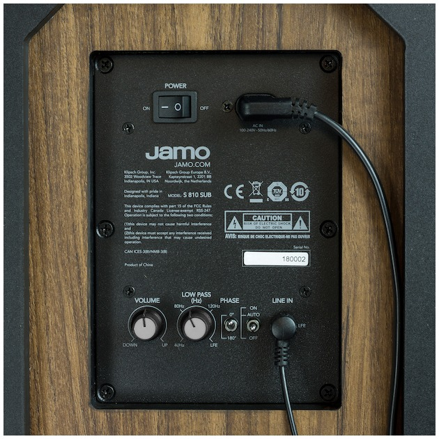 Jamo S 808 SUB walnoot