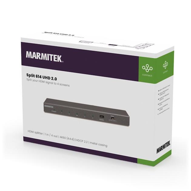 Marmitek SPLIT 614 UHD 2.0 zwart