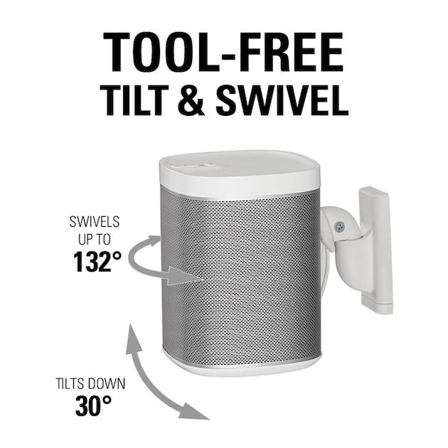 Sanus WSWM22-B2 Speaker Wandsteun - Sonos ONE-PLAY:1 en 3 Pair wit