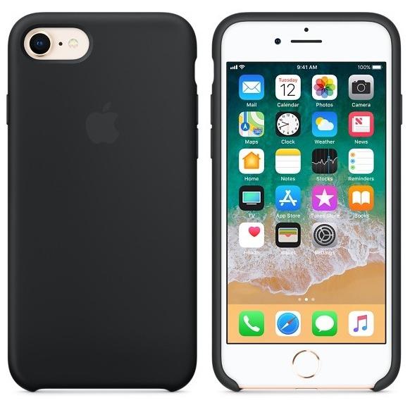 Apple Silicone Back Cover voor iPhone 7/8 zwart