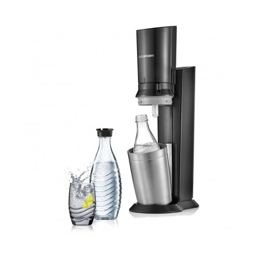 Sodastream Crystal Black toestel incl. glazen karaf en 60L CO2 cilinder