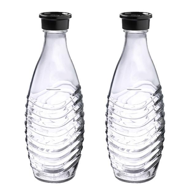Sodastream Crystal Black toestel incl. 2 glazen karaffen en 60L CO2 cilinder