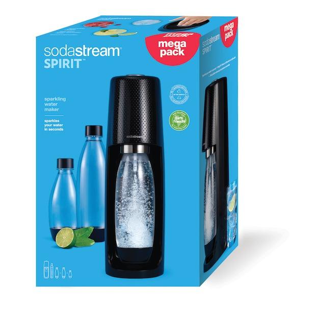 Sodastream Spirit incl. 3 herbruikbare literflessen en 60L CO2 cilinder zwart