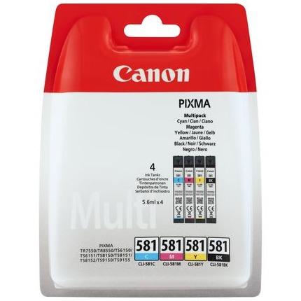 Canon CLI-581 C/M/Y/BK multipack Zwart/multicolor