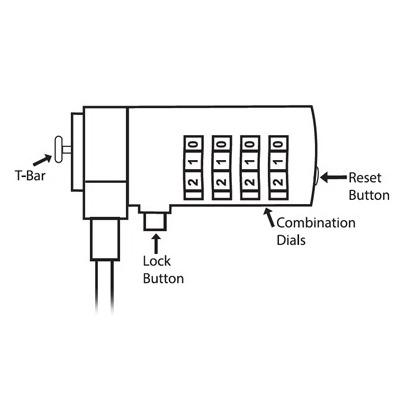 Ewent Laptopslot met cijfercode 1.5 Meter