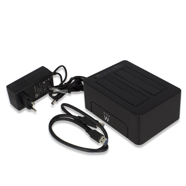 Ewent USB 3.1 Gen1 (USB 3.0) Dual HDD Docking Station