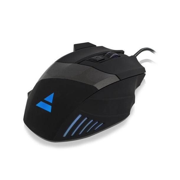 Ewent Gaming muis verlicht zwart