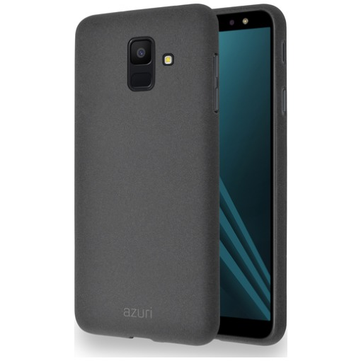 Azuri Flexible cover met zandtextuur for Samsung A6 (2018) grijs