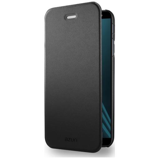Azuri Booklet ultra dun met standfunctie Samsung A6 (2018) zwart
